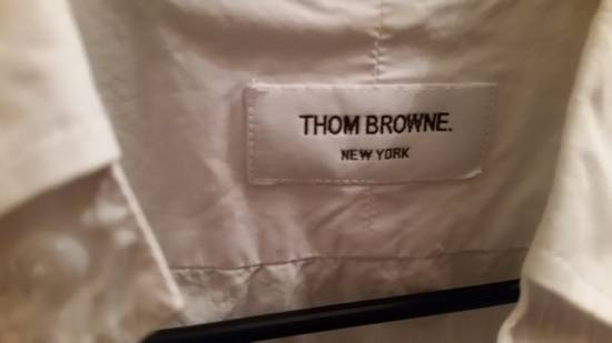 Thom Browne White Oxford Arm Band Shirt Size US S / EU 44-46 / 1 - 1