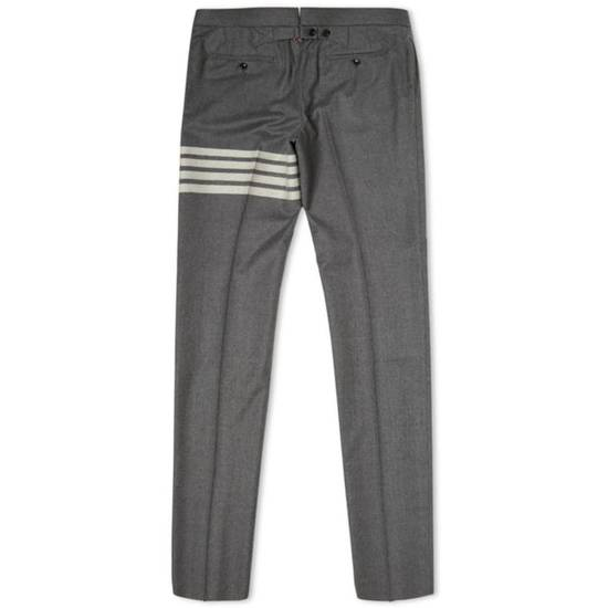 Thom Browne THOM BROWNE STRIPE BACKSTRAP FLANNEL TROUSER Size US 31 - 3
