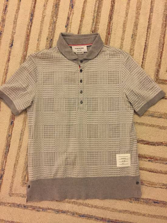 Thom Browne SS15 Patterned Polo Size 2 Size US XS / EU 42 / 0