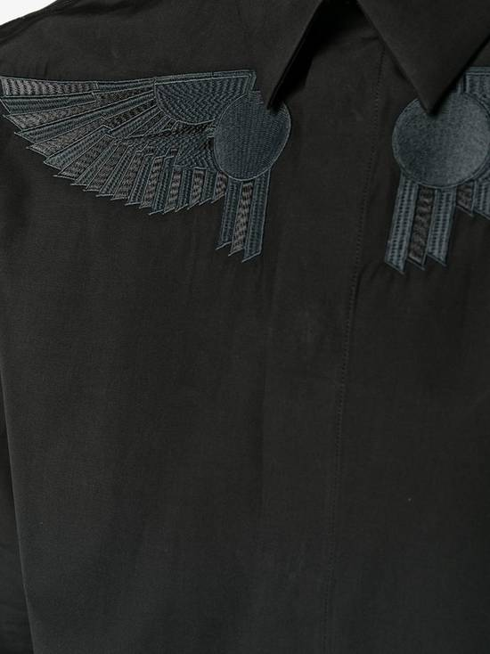 Givenchy Givenchy Black Embroidered Wings Rottweiler Star Madonna Shark Shirt size 37 (fitted S) Size US S / EU 44-46 / 1 - 6