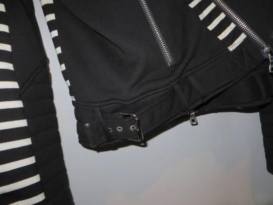 Balmain Stripped cotton biker jacket Size US XXL / EU 58 / 5 - 6