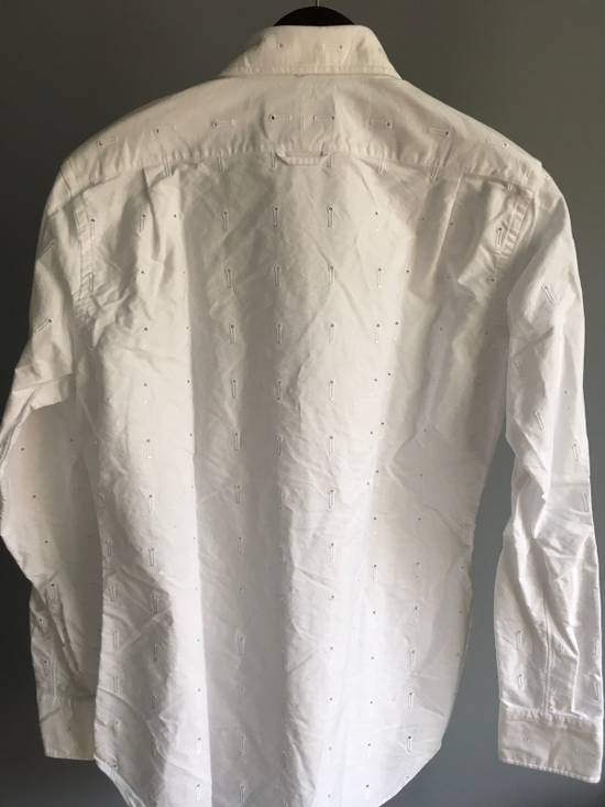 Thom Browne Button-Down Collar Embroidered Cotton Oxford Shirt, White Size3/Medium Brand New With Tags Size US M / EU 48-50 / 2 - 5
