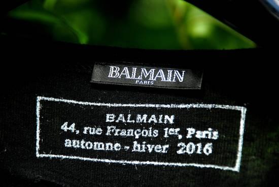 Balmain Black Lace-up Long Sleeved T-Shirt Size US XL / EU 56 / 4 - 7