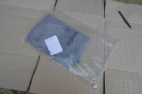 Balmain Grey Ribbed Knit T-shirt Size US M / EU 48-50 / 2 - 7