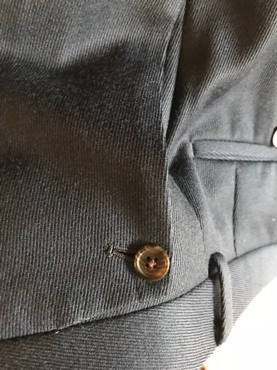 Thom Browne Black Fleece Navy Wool Twill Trousers BB1 Size US 30 / EU 46 - 1