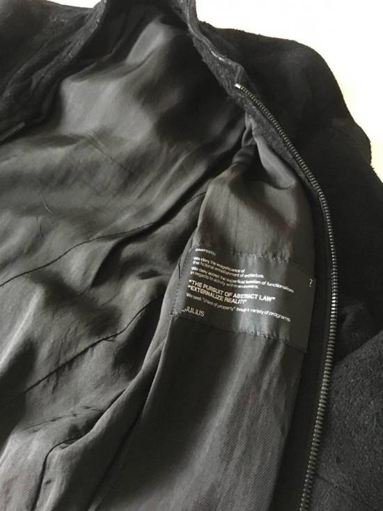 Julius $2200 Lamb Leather Blistered And Reversed Moto Jacket Made In Japan In Mint Condition Size US M / EU 48-50 / 2 - 11