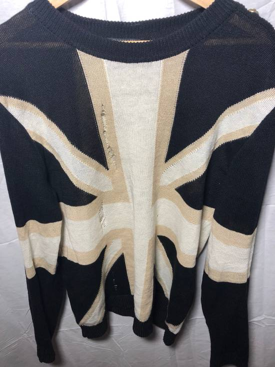 Balmain Union Flag Distressed Sweater Size US XXL / EU 58 / 5 - 1
