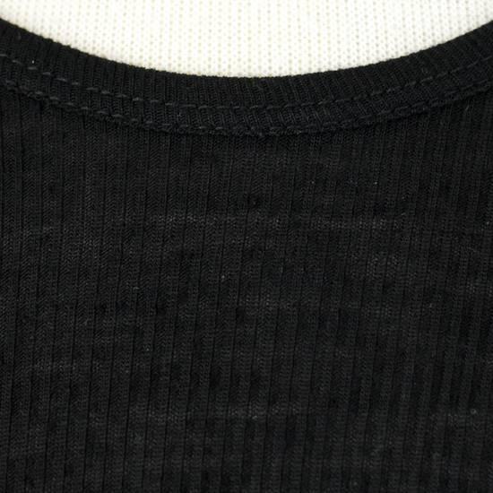 Julius 7 Black Silk Blend Long Ribbed Tank Top T-Shirt Size 4/L Size US L / EU 52-54 / 3 - 5
