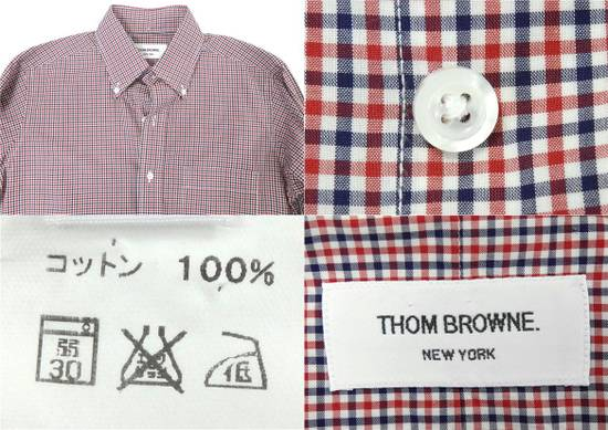 Thom Browne Long Sleeve Red x Navy Blue Button Down Check Shirt Size US M / EU 48-50 / 2 - 2