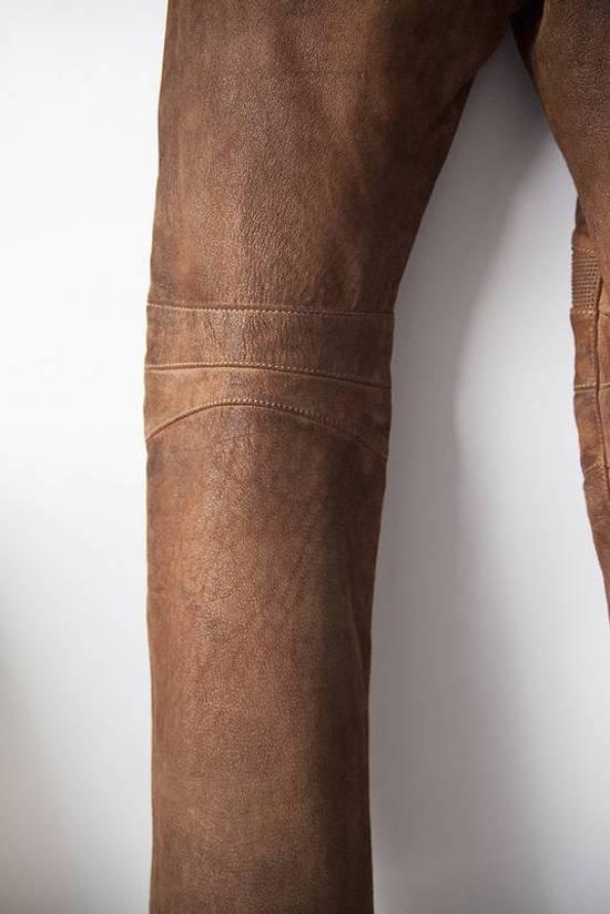 Balmain 2014 leather biker pants Size US 30 / EU 46 - 5