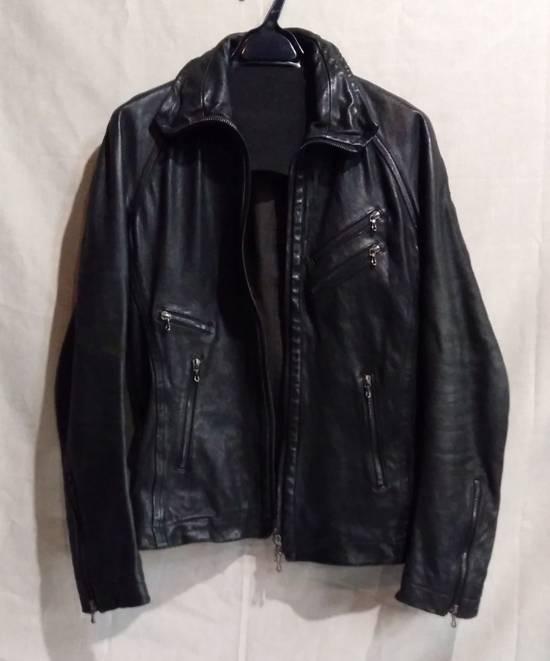 Julius Jut Neck Leather Jacket s/s08 Size US M / EU 48-50 / 2 - 1