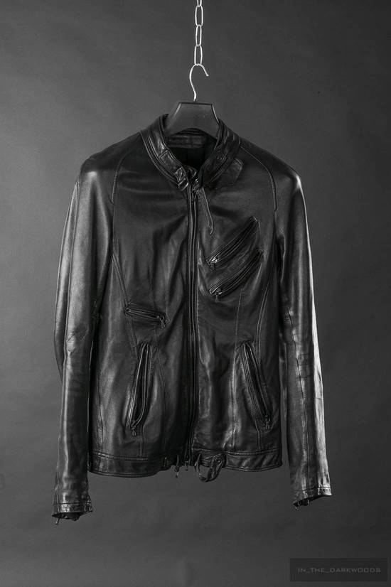 Julius Super rare JULIUS MID-WINTER 2011-2012 HALO MOTO leather jacket Size US L / EU 52-54 / 3 - 2