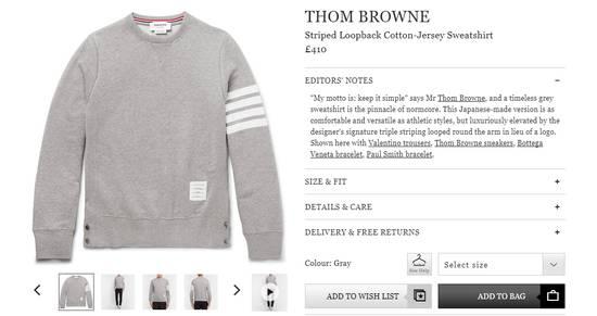Thom Browne classic Striped Loopback grey sweatshirt Size US M / EU 48-50 / 2 - 3