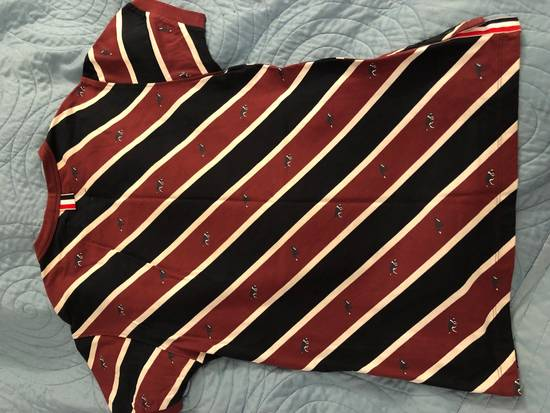 Thom Browne Striped T Shirt With Dog Detail Size US S / EU 44-46 / 1 - 1