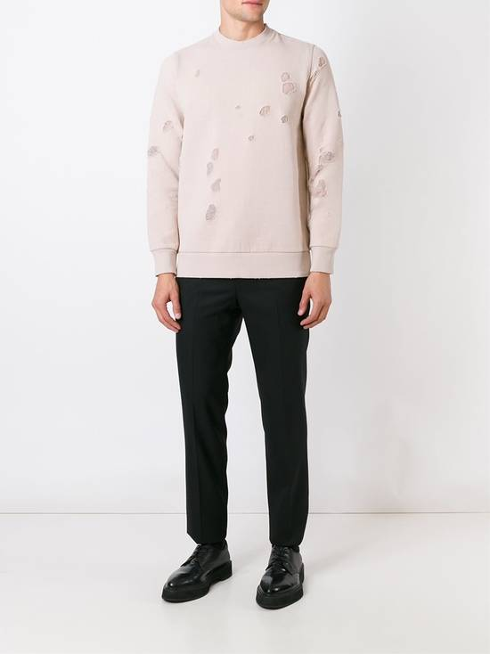 Givenchy Pink Destroyed Logo Sweater Size US XS / EU 42 / 0 - 2