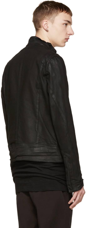 Julius Julius Black Waxed Denim Jacket Size US L / EU 52-54 / 3 - 2