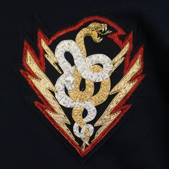 Balmain Men's Blue Cotton Snake Embroidered Henley Sweater Size Large Size US L / EU 52-54 / 3 - 5