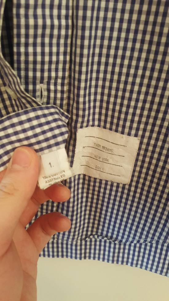 Thom Browne Classic Blue Checked Oxford shirt Size 1 Size US S / EU 44-46 / 1 - 1
