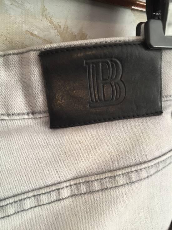 Balmain Stone grey Balmain ripped jeans Size US 33 - 2