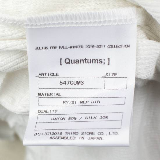 Julius 7 White Silk Blend Long Sleeve Long Ribbed Crewneck T-Shirt 3/M Size US M / EU 48-50 / 2 - 5