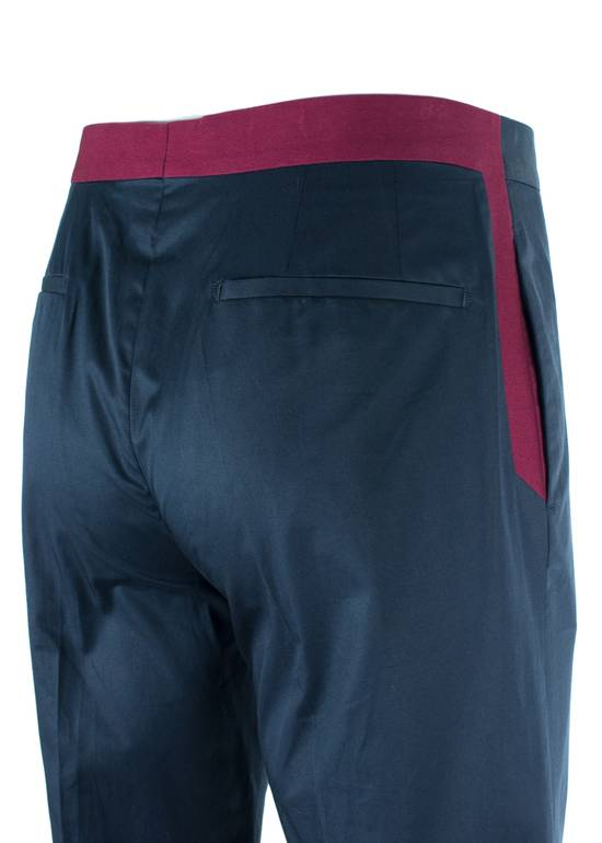 Givenchy Givenchy Men's Navy W/ Red Accent Cotton Trousers Size US 32 / EU 48 - 2