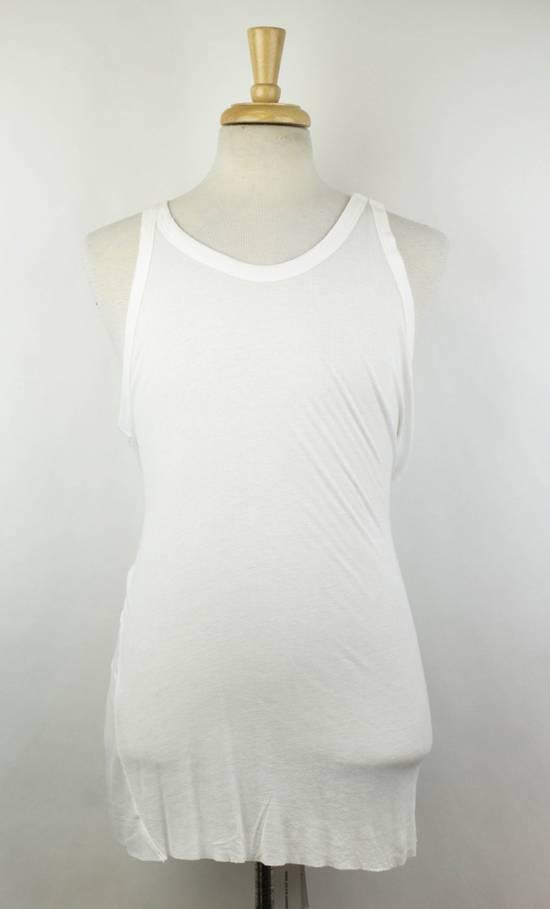 Julius 7 White Rayon Blend Long Ribbed Tank Top T-Shirt Size 2/S Size US S / EU 44-46 / 1