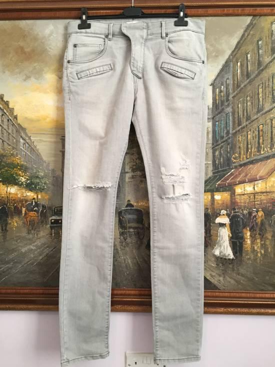 Balmain Stone grey Balmain ripped jeans Size US 33