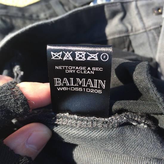 Balmain Gray Biker Jeans Size US 27 - 13