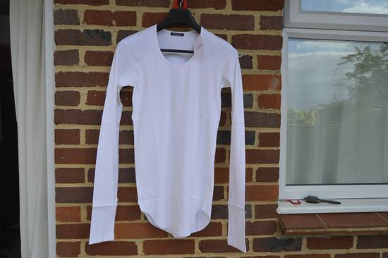 Balmain White Ribbed Long Sleeve T-shirt Size US M / EU 48-50 / 2