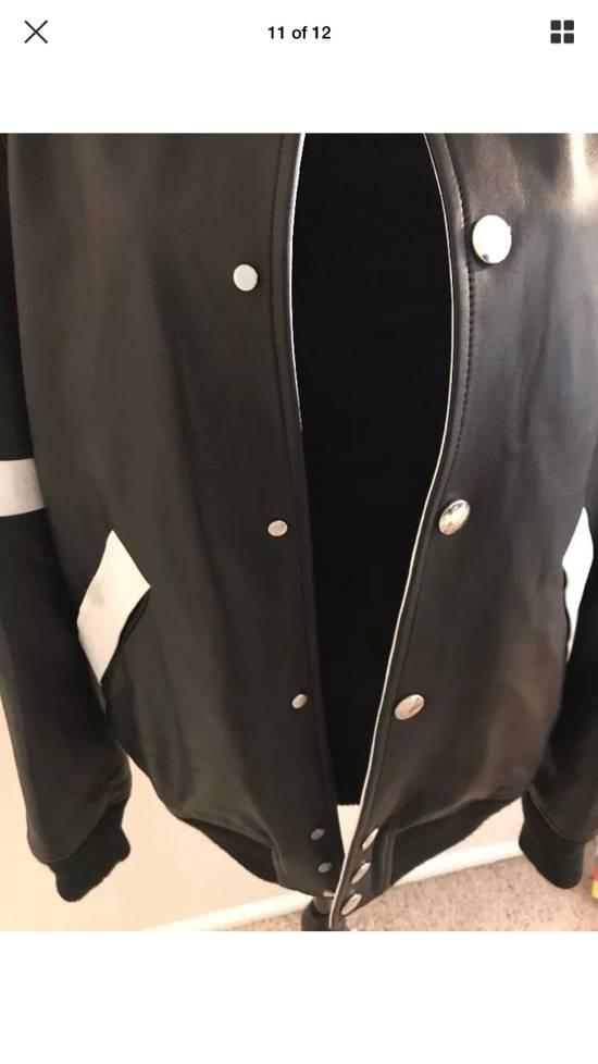 Givenchy Givenchy Black Leather Star And Stripe Bomber Jacket Size US M / EU 48-50 / 2 - 11