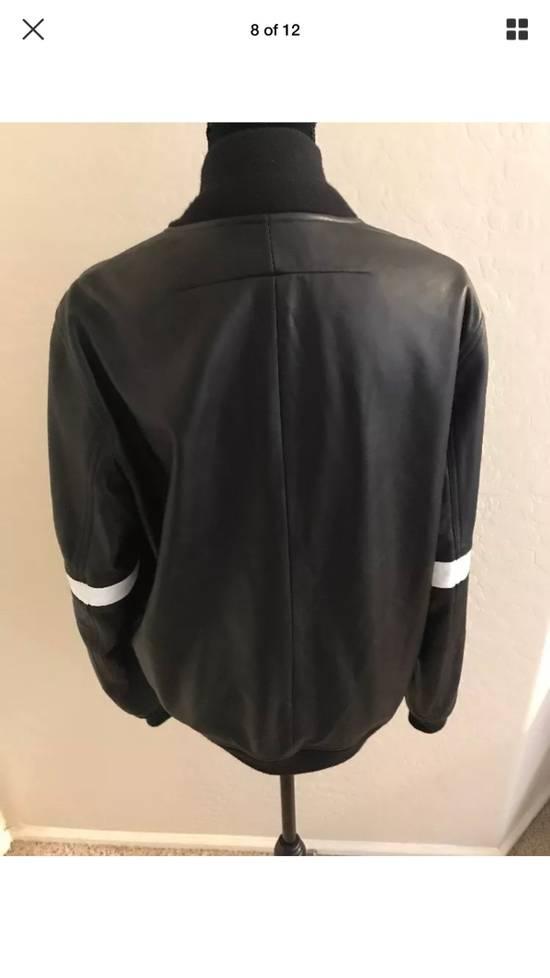 Givenchy Givenchy Black Leather Star And Stripe Bomber Jacket Size US M / EU 48-50 / 2 - 8