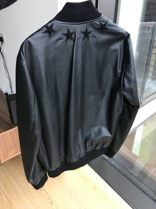 Givenchy Star Patch Leather Bomber Size US M / EU 48-50 / 2 - 4