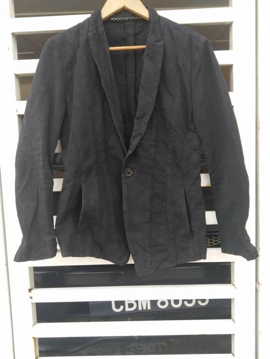 Julius Julius 2004 The Structure Black Cotton Coat Jacket Blazer Size US S / EU 44-46 / 1 - 6