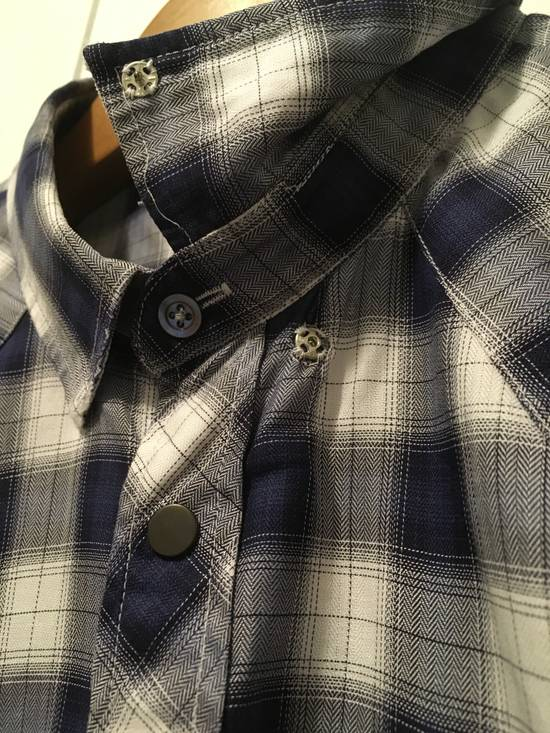 Balmain AW10 Shadow Plaid Western Shirt Size US S / EU 44-46 / 1 - 3