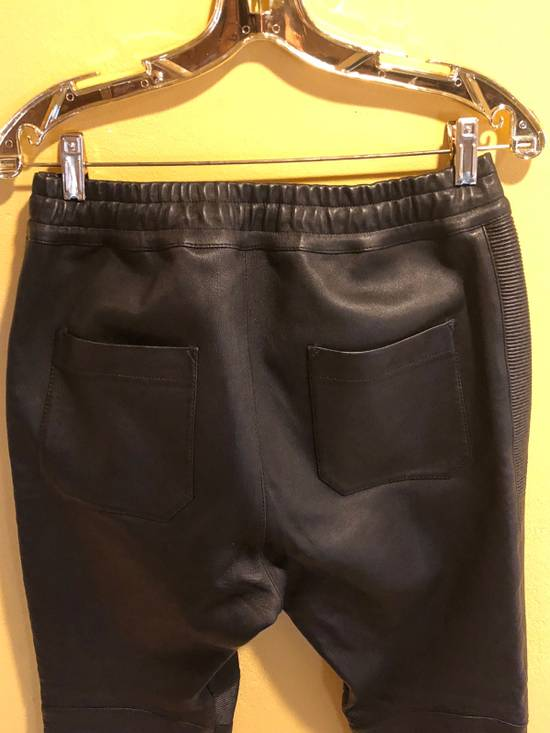 Balmain Slim Fit Biker Style Leather Sweatpants Size US 34 / EU 50 - 7