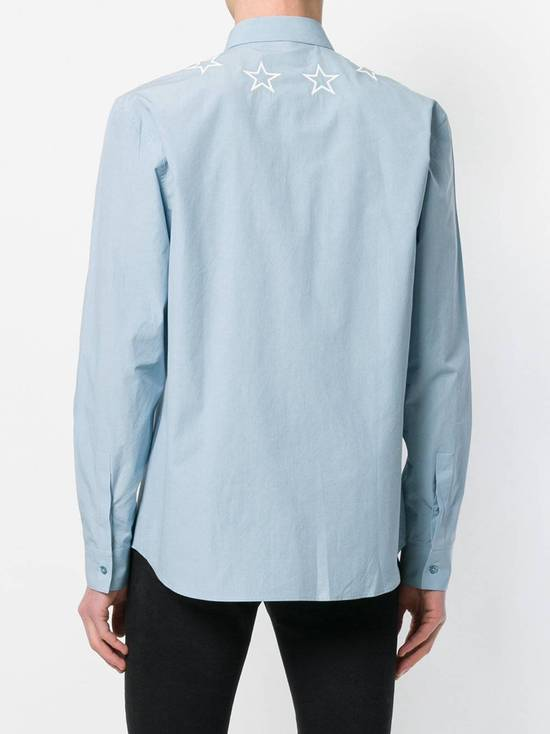 Givenchy Givenchy star embroidered blue shirt sz 38 Size US S / EU 44-46 / 1 - 10