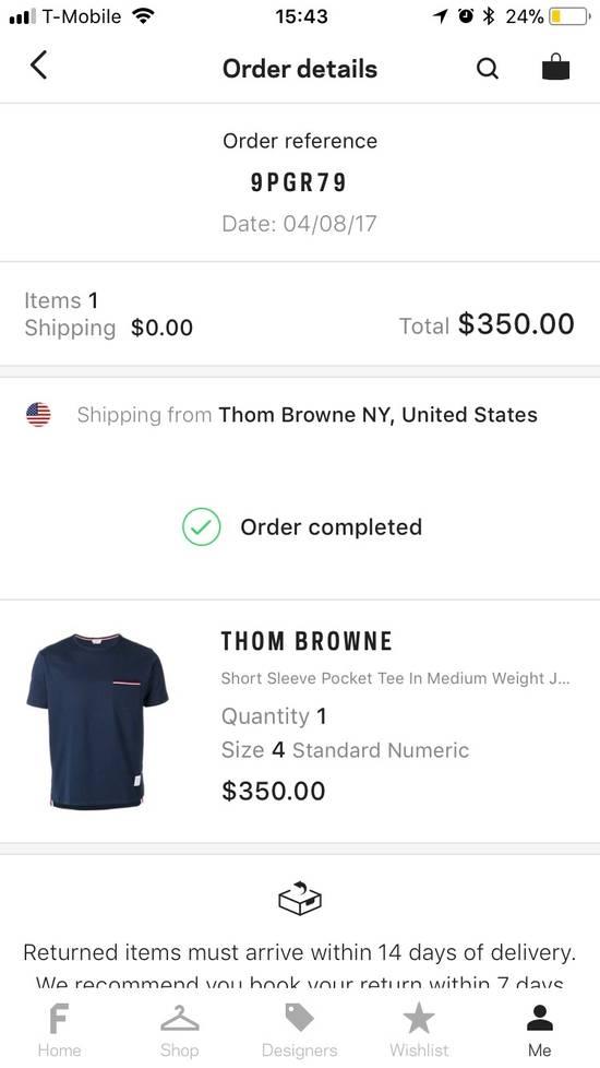 Thom Browne Navy T-Shirt Size 4 Size US L / EU 52-54 / 3 - 5