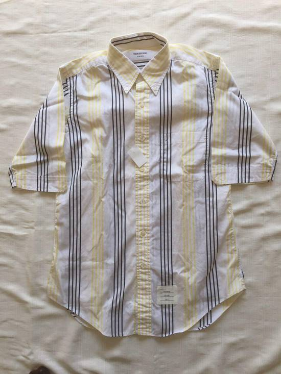 Thom Browne Short Sleeve Striped Shirt Size US L / EU 52-54 / 3