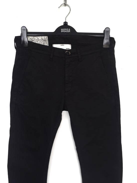 Julius Japanese Artist Designer Blue Tornado Cotton Twill Twist Leg Skinny Trousers Pants Inspired by MA_Julius Size US 30 / EU 46 - 1