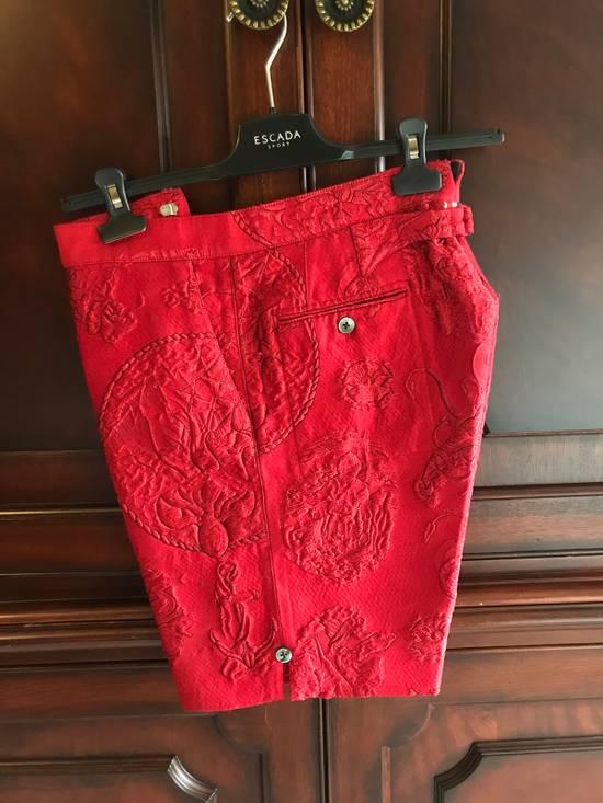 Thom Browne Thom Browne SS13 Tattoo Jacquard Red Silk Shorts (size 1) Size US 30 / EU 46