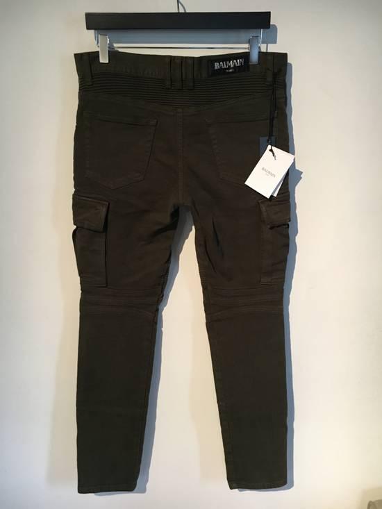 Balmain Balmain Cargo Green Biker Jeans Size US 31 - 2