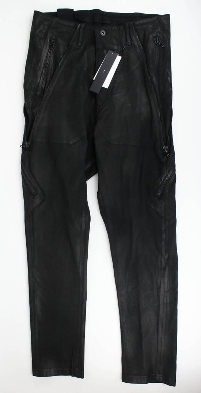 Julius 7 Black Lamb Nubuck Leather Slim Fit Jeans Pants Size 3/M Size US 34 / EU 50