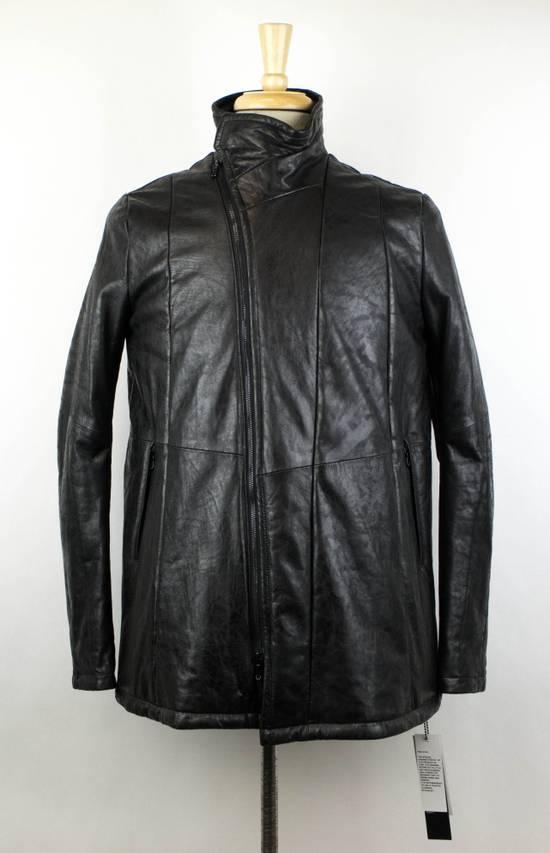 Julius 7 Men's Black Lamb Skin Leather Zip-Up Jacket Size 2/S Size US S / EU 44-46 / 1