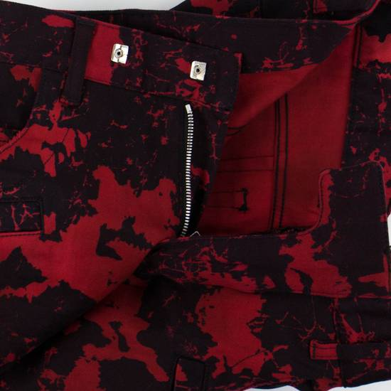 Balmain Red Camouflage Denim Straight Leg Jeans Pants Size US 30 / EU 46 - 1