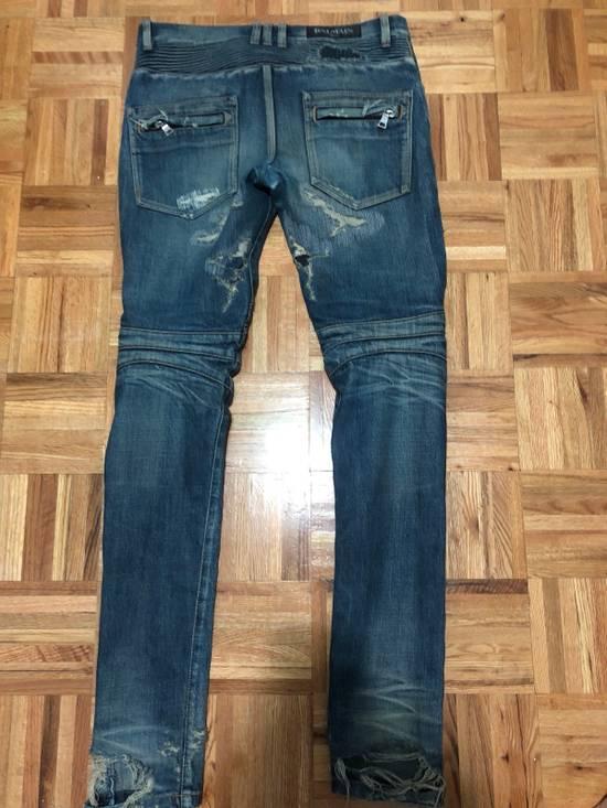 Balmain FW13 Oil Destroyed Indigo Jeans Size 30 (ALTERED) Size US 30 / EU 46 - 5