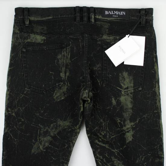 Balmain Green Cotton Blend Denim Slim Fit Jeans Pants Size US 32 / EU 48 - 4