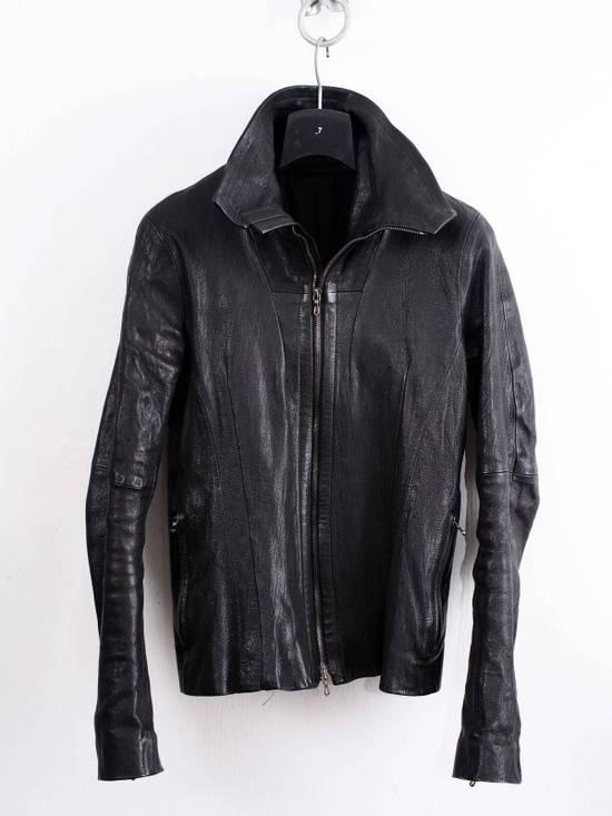 Julius Julius Jut Neck Leather Jacket Size US S / EU 44-46 / 1