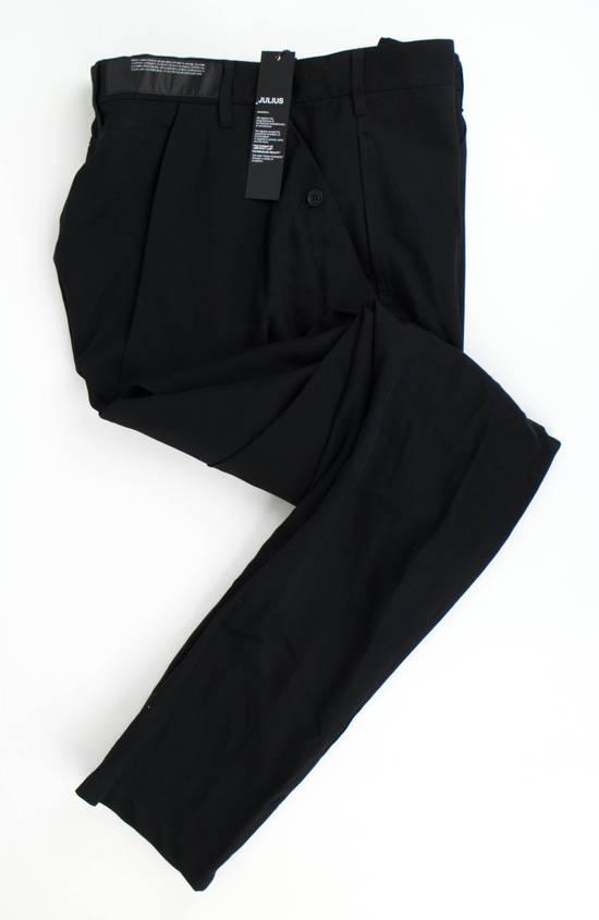 Julius 7 Black 'Slim Drop Crotch' Slim Fit Casual Pants Size 4/L Size US 36 / EU 52