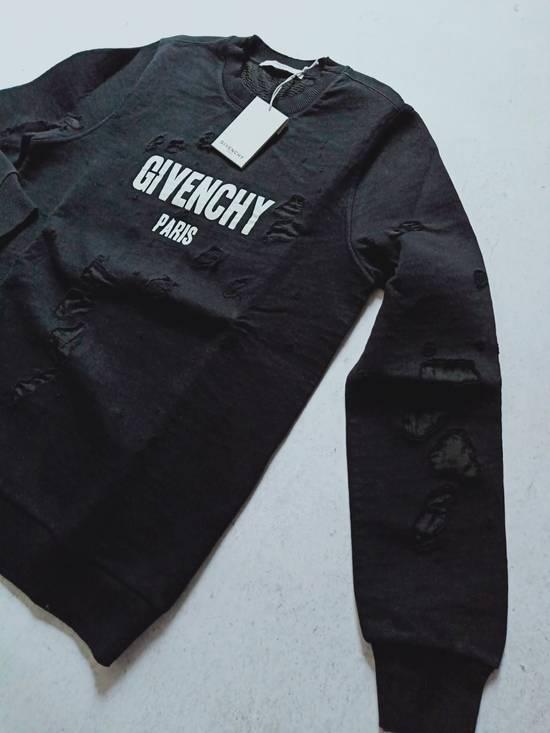 Givenchy GIVENCHY Logo-Print Distressed Cotton Sweatshirt Size US S / EU 44-46 / 1 - 3