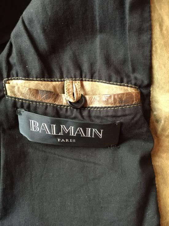 Balmain Decarnin Green Leather Teddy Boy Jacket Size US M / EU 48-50 / 2 - 11